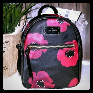 Kate spade mini Bradley poppy backpack
